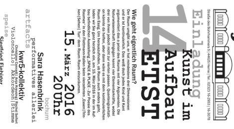 15.3.2016 kwr5-Kollektiv: Performance, Flottmannhallen, Herne