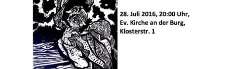 kwr5-Kollektiv spielt zu Otto Pankoks Zigeunerzyklus, 28.7.2016, Lüdinghausen