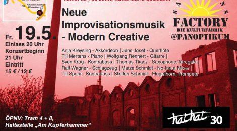 Neue Improvisationsmusik, Kulturfrabrik Salzmann @ Panoptikum, Kassel, 19.5.2017