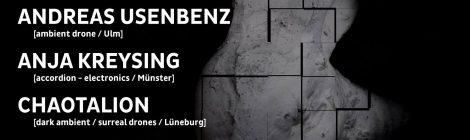 re:flexions - silent series: Anja Kreysing + Andreas Usenbenz + Chaotalion, 1.7.2017, Ganze Bäckerei, Augsburg