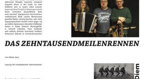 Cubic Escape: DAS ZEHNTAUSENDMEILENRENNEN, 20.4.2018, black-box, Münster